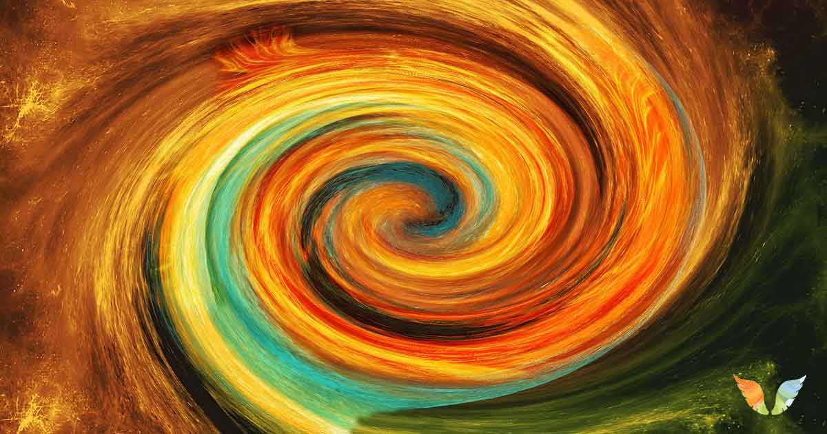 Swirling colours