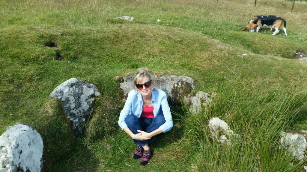 Grounding: Aoibheann at the Hag's Chair, Boyne Valley, Co. Meath
